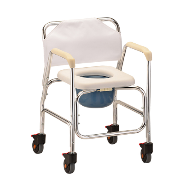Nova Rolling Shower / Commode Chair on Sale with Low Price
