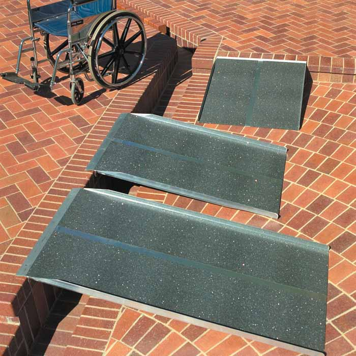 solid wheelchair ramp 3 4 5 ft long 30 or 36 w on sale