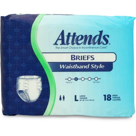 "Attends Briefs w/Waist Band Large (45-58"")"