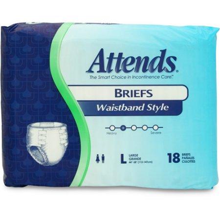 "Attends Briefs w/Waist Band Large (45-58"")"