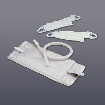 Hollister 30oz Vented Leg Bag System with Fabric Leg Bag Straps - bx/10
