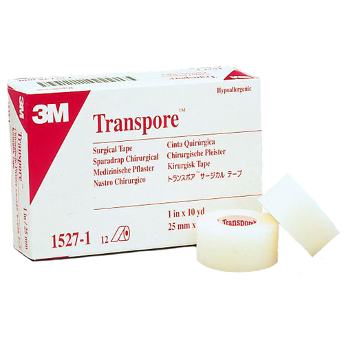 "Transpore Clear Plastic Perforated Tape (3"" wide)"