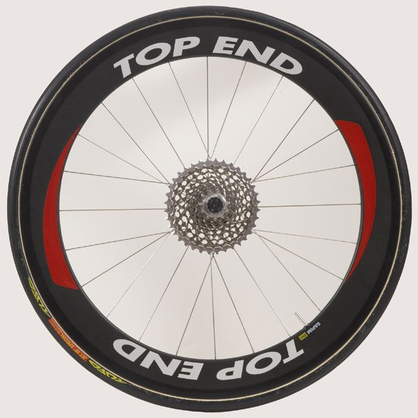 "26"" (571) Top End Carbon Fiber Rear Wheel, Tubular, Threaded Axle not included"
