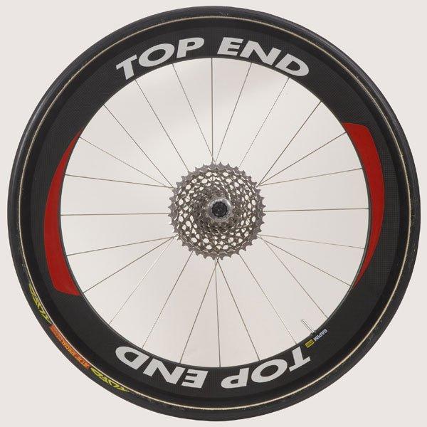 """26"""" (571) Top End Carbon Fiber Rear Wheel, Tubular, Threaded Axle not included"""