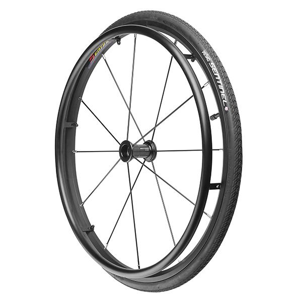 "24"" (540) Primo Sentinel Wheelchair Wheels w/12 Straight Pull Spokes"