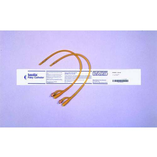 Bard Silicone Elastomer Coated Latex Catheter 30cc