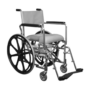 "E&J Commode Shower Chair w/17.5"" back"