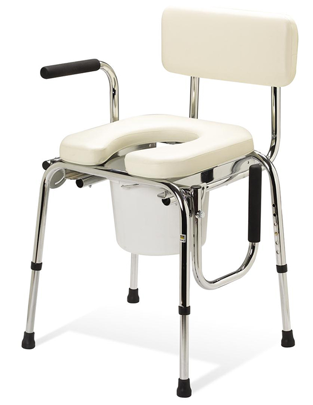 A Review of the Padded Drop- Arm Commode