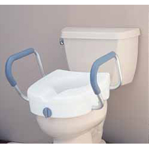 Locking Raised Toilet Seat with Arms