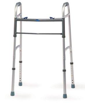 "Invacare Adult Dual Blue-Release Walker w/5"" Fixed Wheels"