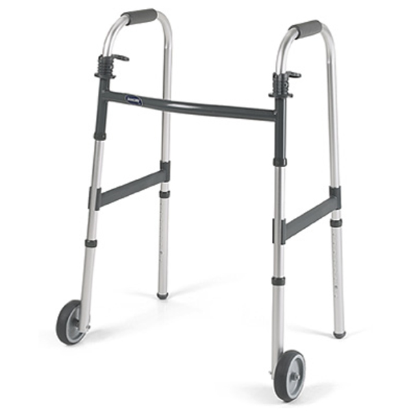 """Invacare I-Class Adult Paddle Walker - 5"""" Fixed Wheels"""