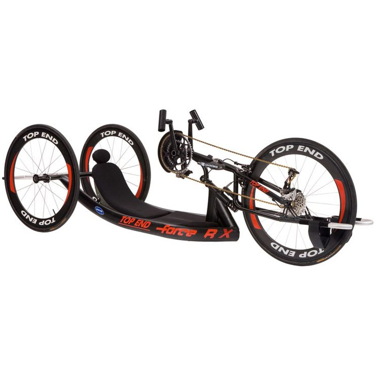 Invacare Top End Force RX Handcycle with Adjustable Carbon Fiber Back