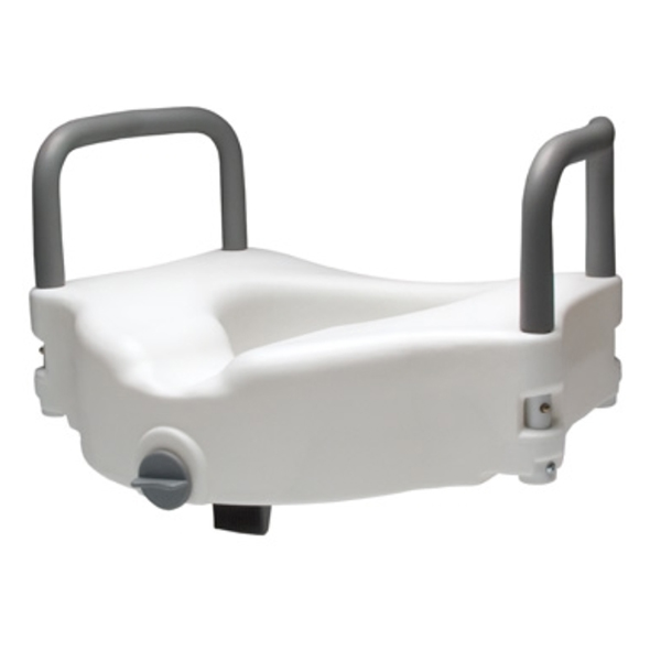 Lumex Locking Raised Toilet Seat w/ Removable Arms
