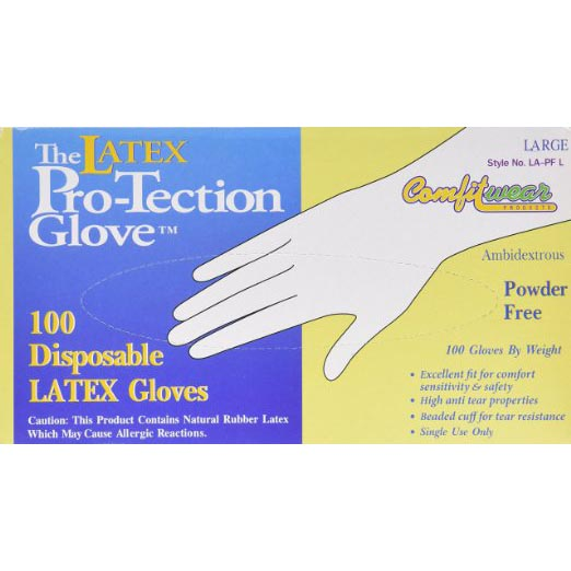 Powder Free Latex Gloves bx/100