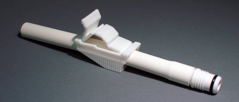 Urocare Straight Thru Adapter with Clamp