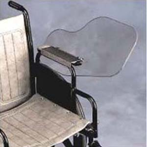 Wheelchair Clear Flip Away Armrest Tray