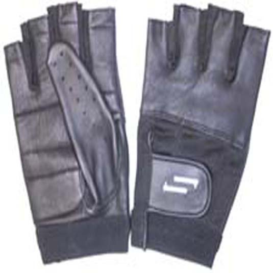 Sportaid Half Finger Full Thumb Wheelchair Gloves with Leather Back