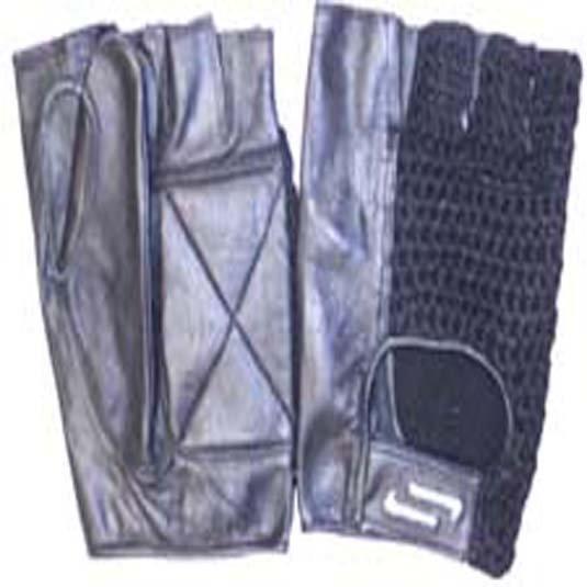 Sportaid Half Finger Full Thumb Wheelchair Gloves with Mesh Back