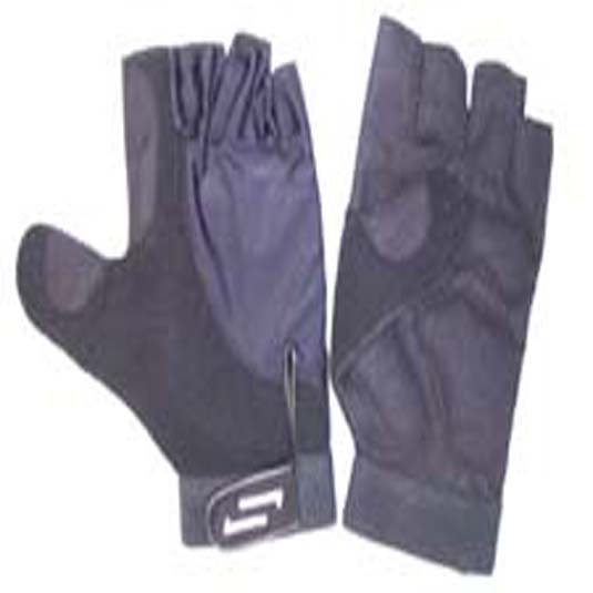 Sportaid Half Finger Full Thumb Wheelchair Gloves, Lycra w/Padded Palm