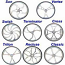 Glance Wheelchair Wheels 24 or 25 inch Machined Aluminum Wheels - 8 Styles