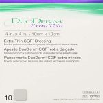 "DuoDerm Extra Thin CGF Dressing, Sterile. 4"" x 4""  BX 10"