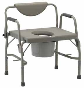 Nova Heavy Duty Commode with Extra Wide Seat & Drop Arms