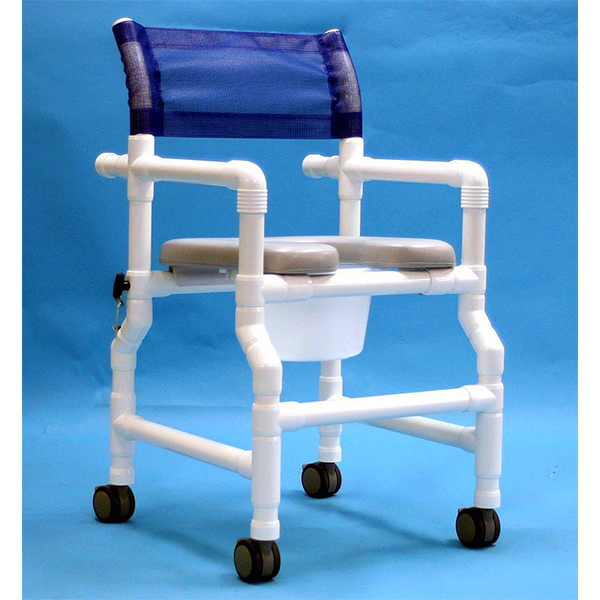 Aqua Creek Folding PVC Shower/Commode Chair
