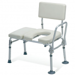 Padded Transfer Bench w/Commode Opening