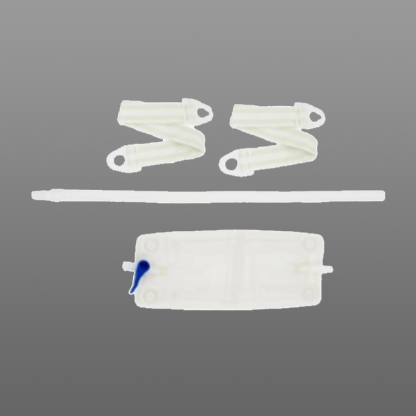 Hollister 18 oz Latex-Free Leg Bag Kit with Extension Tubing, Connector and Straps - each