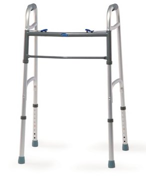 "Invacare Adult Dual Blue-Release Walker w/5"" Fixed Wheels"