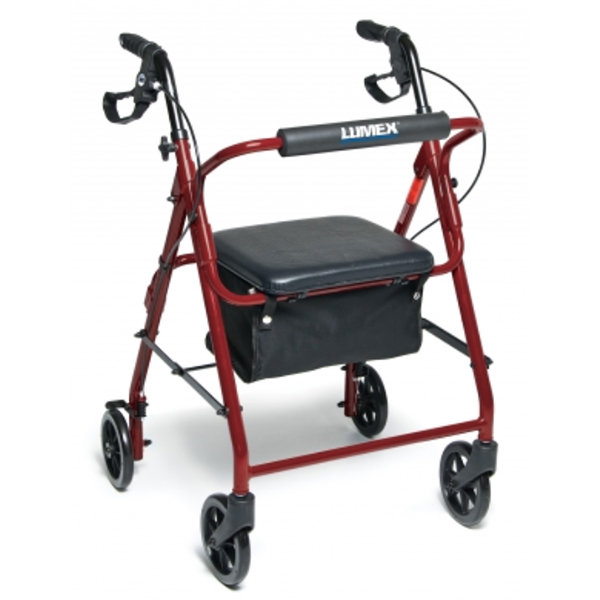 Lumex Walkabout Basic Four-Wheel Rollator