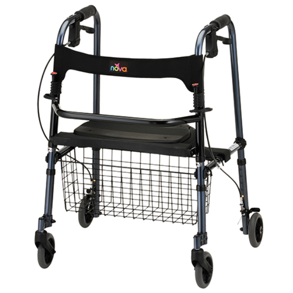 Nova Cruiser De-Light Folding Walker w/ Basket