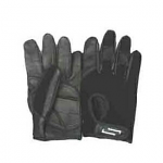 New Sportaid Full Finger Leather/Terry Cloth Back Wheelchair Gloves