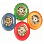 "4"" x 1"" Wheelchair Poly Caster, 4 Colors Available"