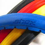 """SHOX Solid Wheelchair Tires 24"""", 25"""" x 1"""" (25-540, 559,590) 5 Colors 110psi Equivalent pair"""