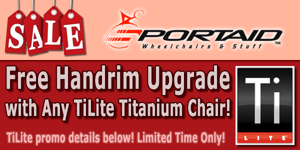 Any TiLite Wheelchair Sold Qualifies - Free Natural Fit Handrims - Limited Time Only!