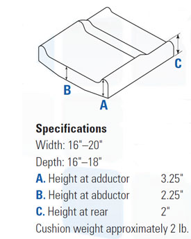 Invacare Absolute Wheelchair Cushion - Specifications