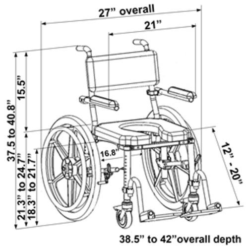 Nuprodx MultiChair 4024 - Dimensions