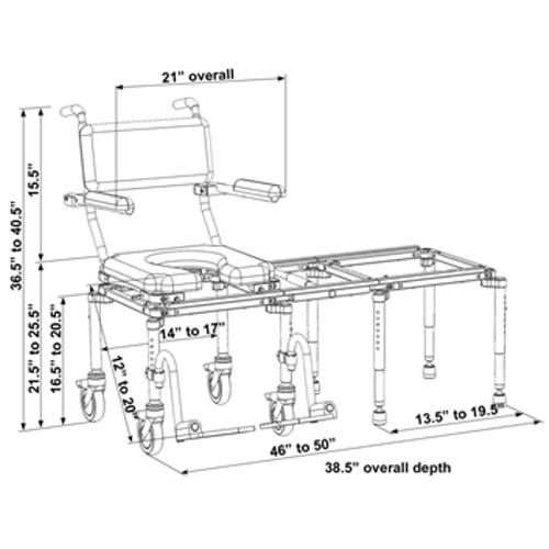 Nuprodx MultiChair 6000 - Dimensions