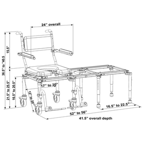 Nuprodx MultiChair 6200 - Dimensions