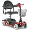 Invacare Lynx 4 Wheeled Microportable Scooter - Red